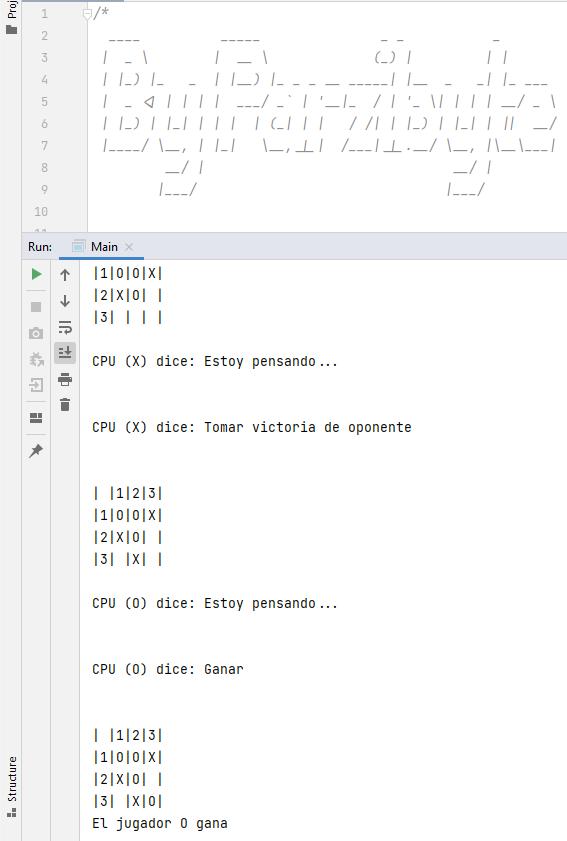 Saber si hay ganador - Tres en línea con Java