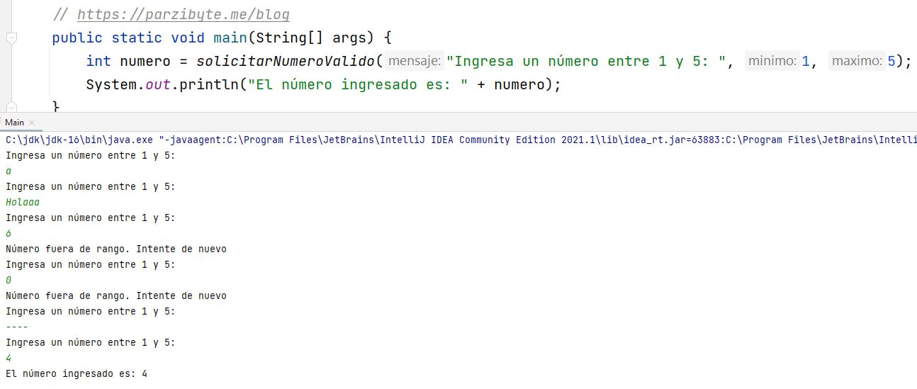 Solicitar y validar número en Java