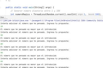 Adivinar número en Java - Programación de juego