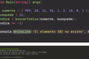 Buscar elemento en arreglo de C# - Nuestro IndexOf