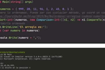 Búsqueda binaria con C#
