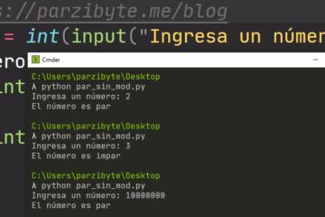Número par o impar en Python - Con y sin mod