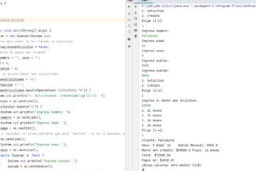 Simulador de solicitud de crédito en Java