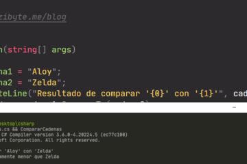 Comparar cadenas en C sharp - Cadena es menor