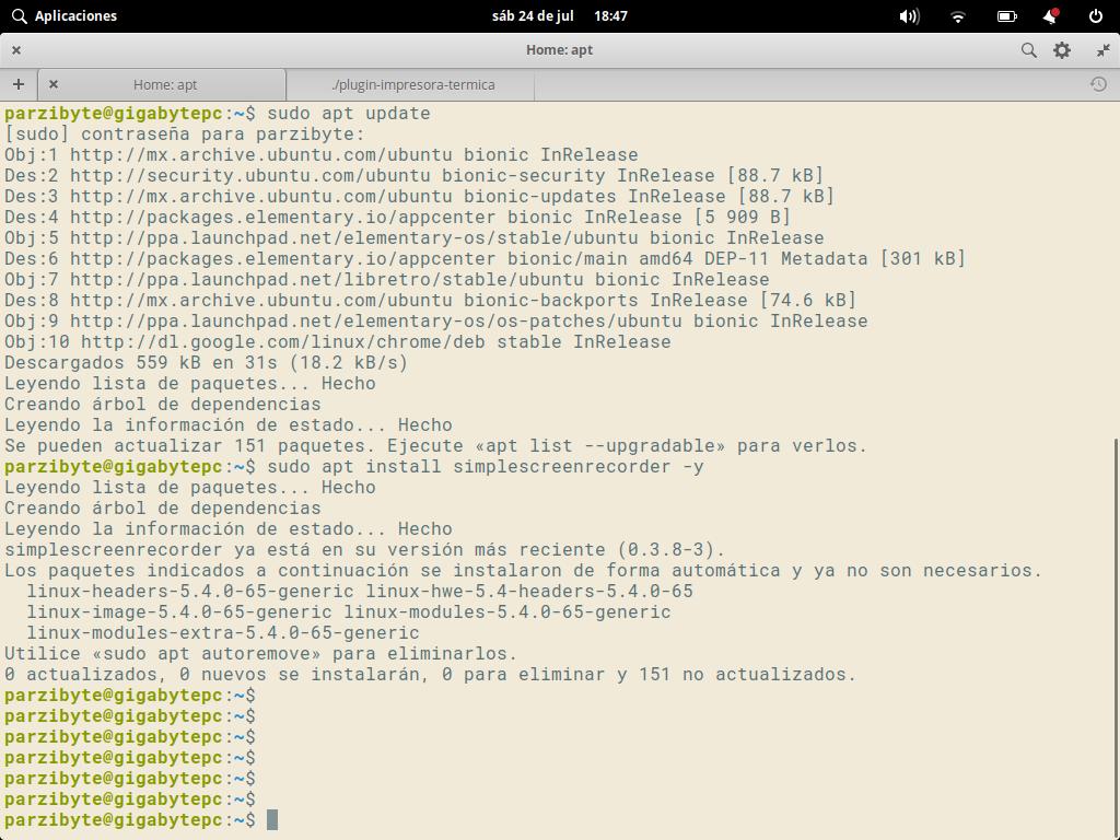 Instalando simple screen recorder en Linux - Grabar pantalla