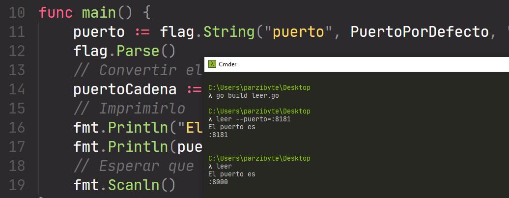 Leer argumentos de línea de comandos con Go y flag