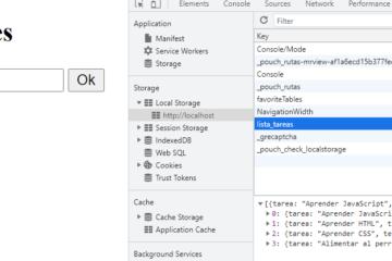 Lista de tareas (to do list) en localstorage con JS