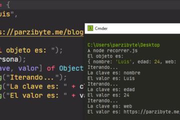 Recorrer objeto por clave y valor en JavaScript