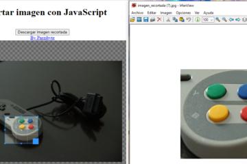 Recortar imagen con JavaScript - Descargar foto cortada