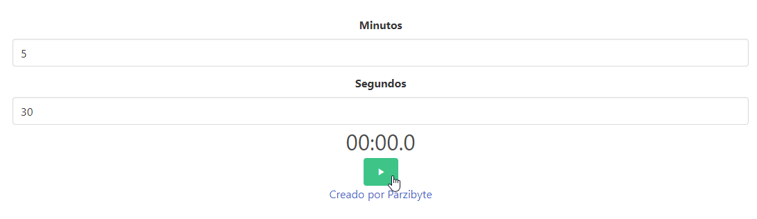 Temporizador en JavaScript - Indicar minutos y segundos para cuenta regresiva