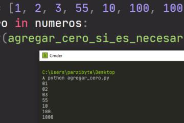 Agregar cero a la izquierda con Python - Rellenar número
