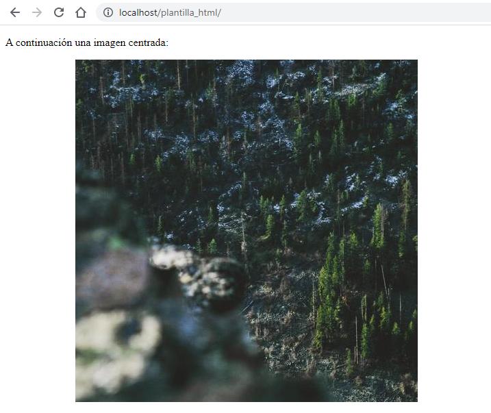 Centrar imagen con CSS y HTML - Alinear imagen al centro