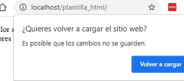 Prevenir que usuario cierre página web con JavaScript