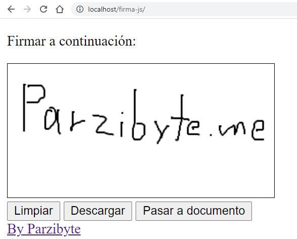 Solicitar firma de usuario con JavaScript y HTML en la web