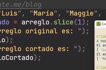 Extraer porción de arreglo en JavaScript (cortar array con slice)