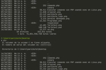 Invocar comando de Windows desde PHP con exec