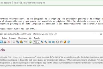 OCR con PHP - Detectar texto de una imagen